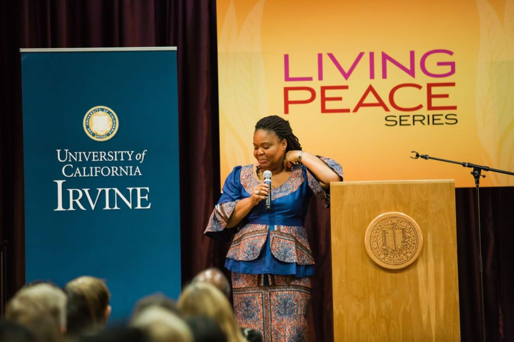 Leymah Gbowee for Living Peace Series at UC Irvine