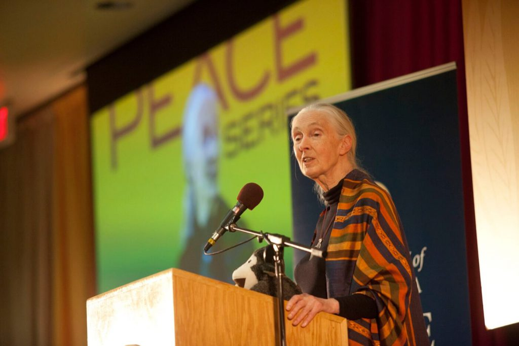 Jane Goodall for Living Peace Series UC Irvine