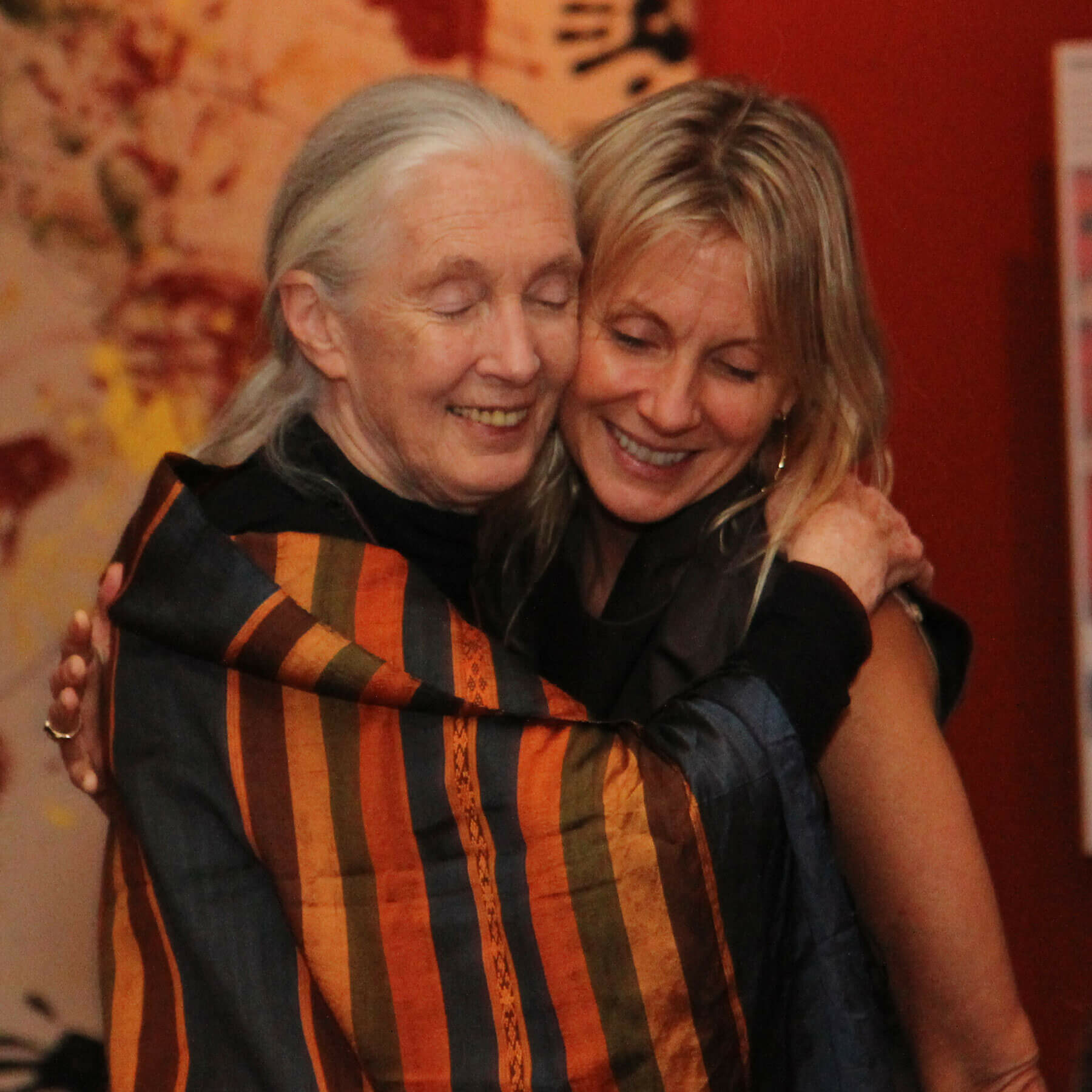 Jane Goodall with Living Peace Foundation founder Kelly Smith